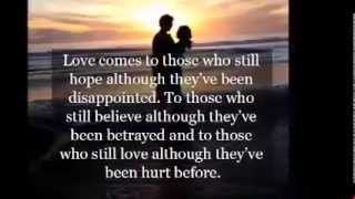 It Hurts To Love Someone And Not Be Love In Return
