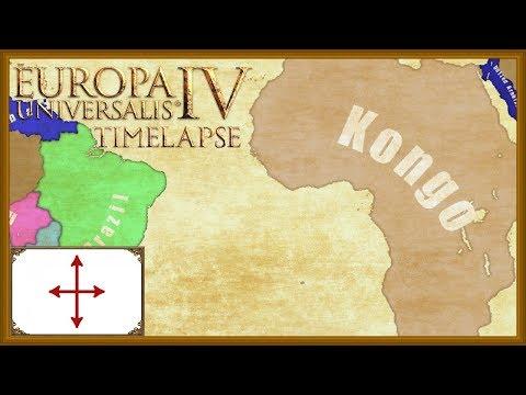 Europa Universalis 4 - African Dominance as Kongo - Timelapse (Mandate of heaven)