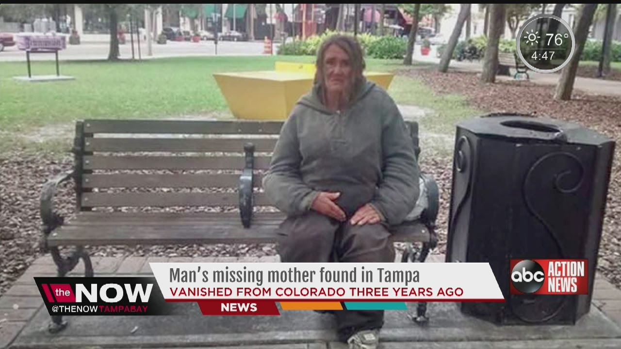 Man's missing mother found in Tampa shines light on homelessness