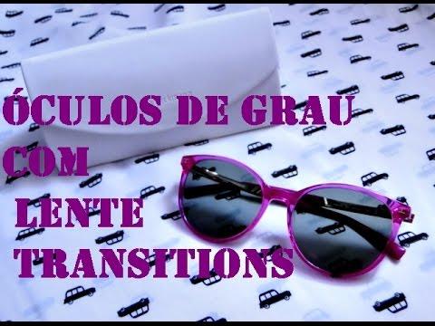 3476e1de18169 Óculos de Grau com Lente Transitions - YouTube