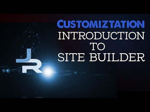 Customization: Introduction to Site Builder