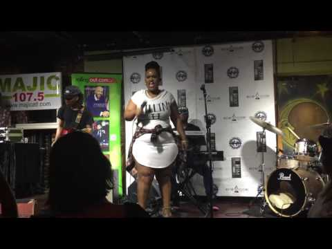 """Amber Bullock """"Faking It"""" at Apache Cafe"""