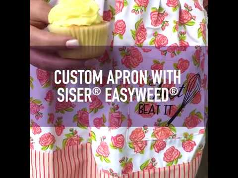 Applying Heat Transfer Vinyl To An Apron Siser Easyweed Tutorial