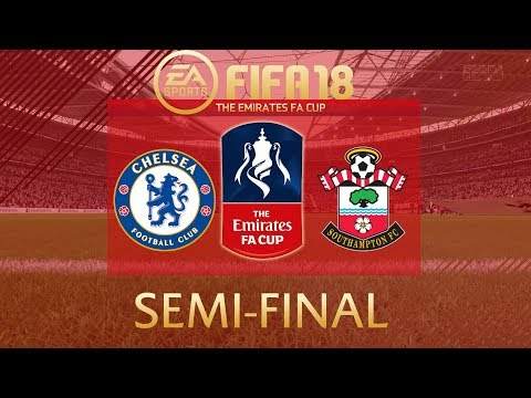 FIFA 18 Chelsea vs Southampton | The Emirates FA Cup Semi Final 2017/18 | PS4 Full Match
