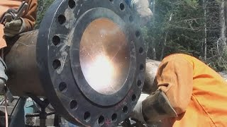 16 Inch Schedule 80 Flange Welding - Pipeline Fabrication