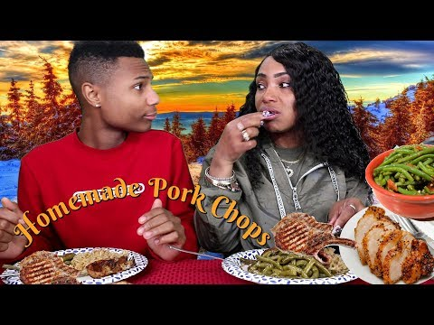 Homemade Porkchops, Greenbeans, & Mushroom Rice w It Darius