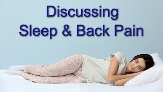 dr benjamin martin chiropractor cork on ireland am discussing sleep and back pain