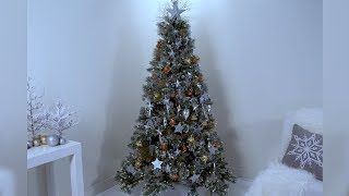 Celestial Stars and Moon Themed Christmas Tree- Martha Stewart