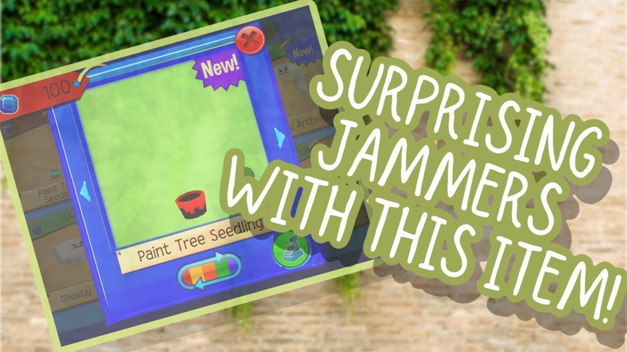 Gifting Random Jammers Paint Tree Seedling Animal Jam PlayWild