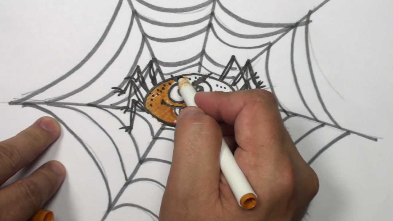 Uncategorized How To Draw Halloween Things how to draw a cartoon spider video halloween things mat youtube