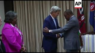 kenya president fm greet us sec of state kerry