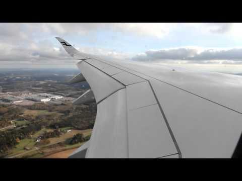 Finnair Airbus A350 Helsinki landing Full HD
