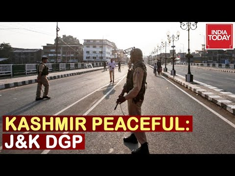 Zero Violence In Kashmir Valley After Abrogation Of Article 370: J&K DGP Speaks To India Today