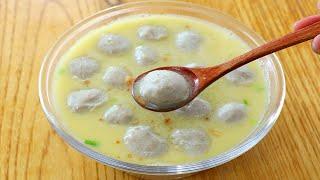 冰打魚丸:無澱粉製作,教你簡單做法,個個細膩嫩滑,好吃不膩! 【夏媽廚房】