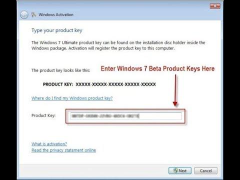 add activation key windows 7
