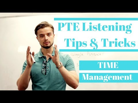 PTE Listening Test Tips and Tricks  (time management - VERY IMPORTANT)