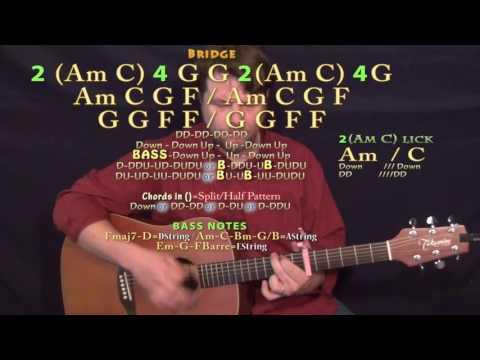 Parachute (Chris Stapleton) Guitar Lesson Chord Chart - Capo 6th