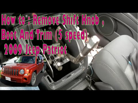 How to : Remove Shift Knob , Boot And Trim - 2009 Jeep Patriot (5 speed)