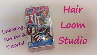 Hair Loom Studio Unboxing, Review & Tutorial by feelinspiffy (Rainbow Loom)