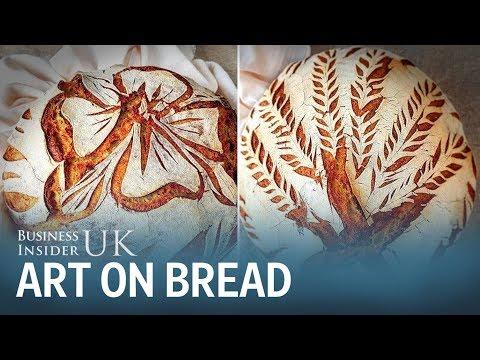 Slovenian baker makes artwork on bread