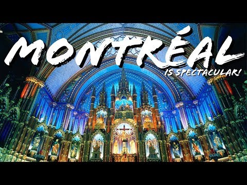 I ❤️ MONTREAL!! | The SPECTACULAR NOTRE-DAME BASILICA | FIRST IMPRESSIONS of MONTREAL, CANADA! 🇨🇦