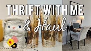 Thrift with Me at Goodwill & Haul+How I Style my Thrifted Finds in my Home!