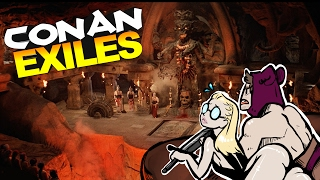 Conan Exiles - RAIDING THE TEMPLE OF DOOM, BUILDING A TRUMP WALL #3 - Conan Exiles Gameplay(Conan Exiles - RAIDING THE TEMPLE OF DOOM, BUILDING A TRUMP WALL #3 - Conan Exiles Gameplay w/ MeatyLock! Oh also there's meat! SUBSCRIBE: ..., 2017-02-04T03:00:01.000Z)