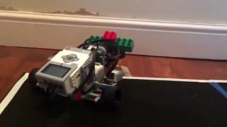 Lego EV3 Search and Rescue:  navigate around 4 rooms detecting hazards and picking up salvage.