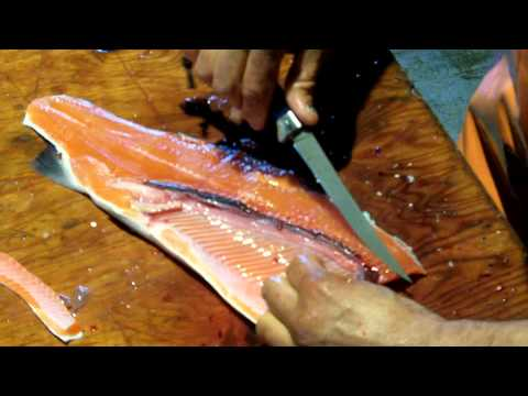 How To Fillet Salmon With A Buck Silver Creek Folding Knife