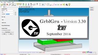 GrblGru FREE Milling / Lathe CAM, Simulation, CNC control Software