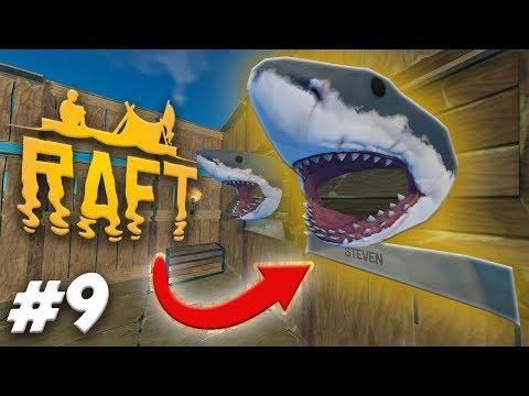 STEVEN IS SHARK MEAT! | RAFT Gameplay Ep.9