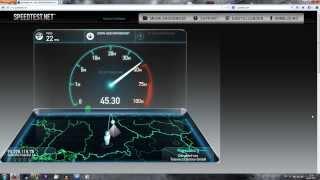 Geschwindigkeitsvergleich VDSL 50.000 vs. DSL 2000 - Ping - MB/S - Upload - Download