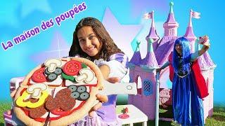 La préparation de  la pizza. Vidéo drôle en français avec les princesses.