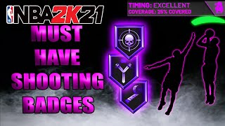 TOP 5 SHOOTING BADGES (MUST HAVE) IN NBA 2K21!