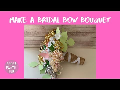 How to Make a Bridal Shower Bow Bouquet with Paper Plates