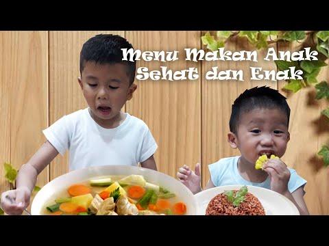 Menu Makan SEHAT untuk ANAK   4 Sehat 5 Sempurna   Gregor Gavin makan sendiri dan suka makanan sehat