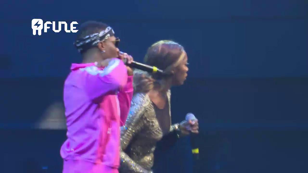 TIWA SAVAGE Brings WIZKID On Stage At One Africa Music Fest Dubai