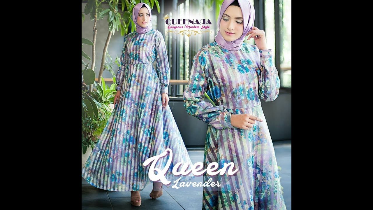 Dress Pesta Untuk Hijaber Elegant Unik Cantik Modern Style Queen By