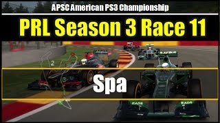 F1 2013 | Online League Race | PRL APSC Season3 Race11 spa