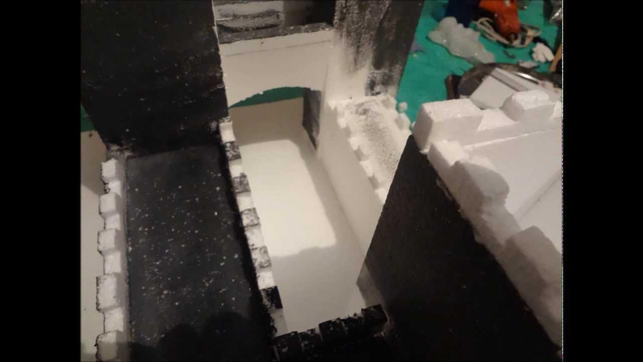 Como hacer un castillo en unicel youtube - Como hacer una mampara de ducha ...