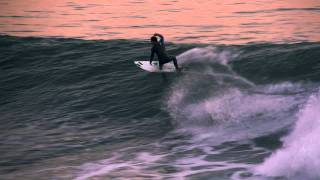 Sunset Surf - Santa Cruz, Ca 2012 in Slo-Mo & 3D