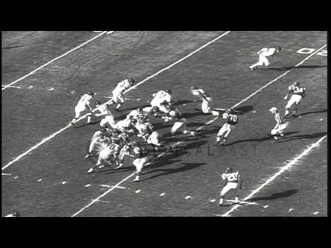 Fran Tarkenton joins New York Giants HD Stock Footage