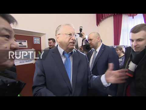 Russia: 'We are voting for the head of the world' - Zhirinovsky casts vote
