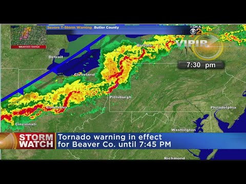 Tornado Warning Issued In Beaver County