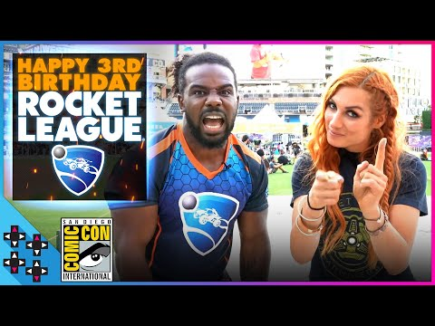BECKY LYNCH & AUSTIN CREED celebrate ROCKET LEAGUE's 3rd BIRTHDAY! thumbnail