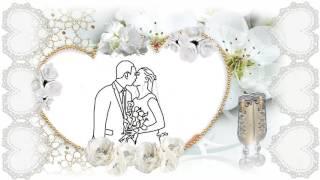 Свадьба Алина  и Саша. Рисованный портрет с фото.