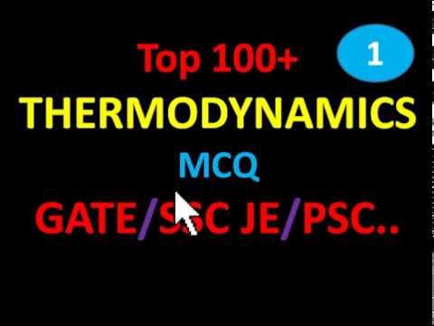 MECHANICAL ENGG.(THERMODYNAMICS) -  MCQ (GATE/SSC JE/PSC..)