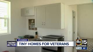 Tiny homes open in the Valley for veterans, homeless