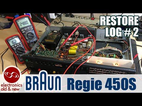Braun Regie 450S Restoration - Part 2. Power Supply Test And Repair.