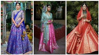 Brocade/Banarasi Lehenga Designs 2019||Beautiful Banarasi fabric brocade lehengas/Bridal benarasi